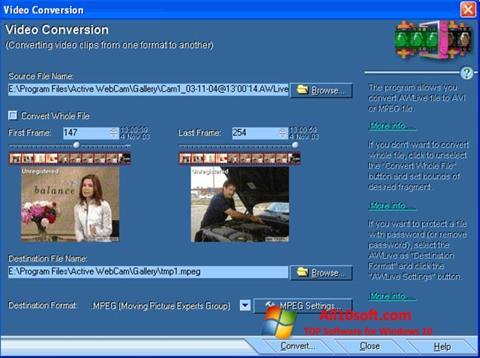 Screenshot Active WebCam Windows 10