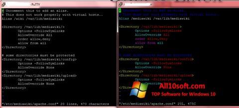 Screenshot PuTTY Windows 10
