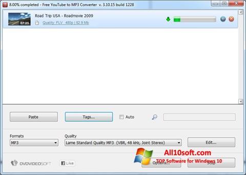 Screenshot Free YouTube to MP3 Converter Windows 10