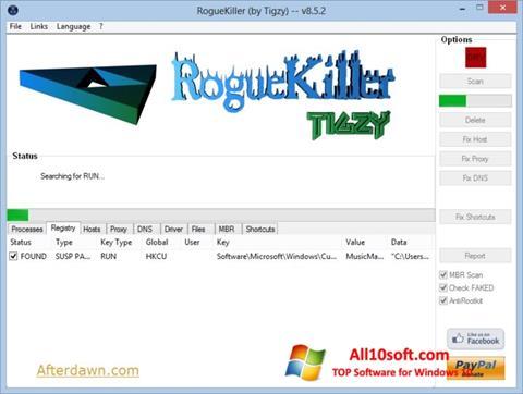 Screenshot RogueKiller Windows 10