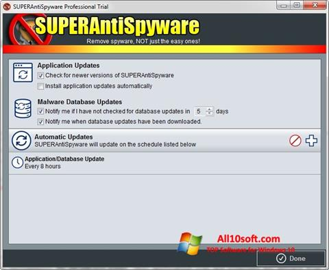 Screenshot SUPERAntiSpyware Windows 10