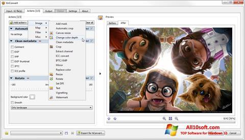 Screenshot XnConvert Windows 10