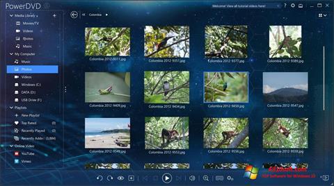 Screenshot PowerDVD Windows 10