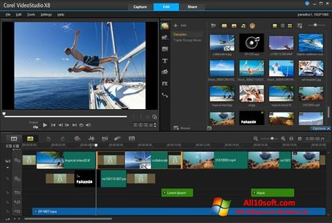 Screenshot Corel VideoStudio Windows 10
