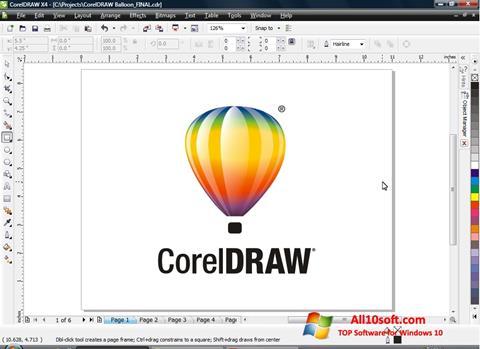 Screenshot CorelDRAW Windows 10