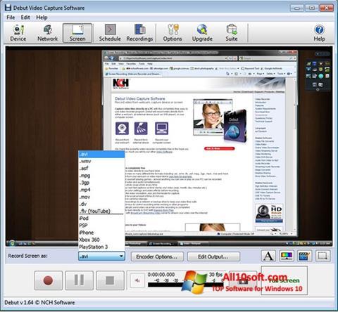 Screenshot Debut Video Capture Windows 10