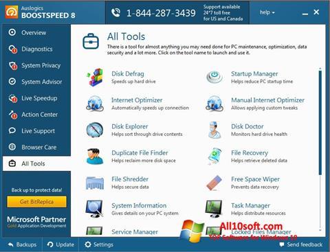 Screenshot Auslogics BoostSpeed Windows 10