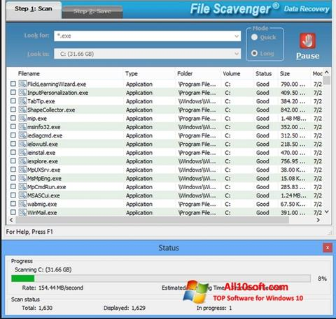 Screenshot File Scavenger Windows 10