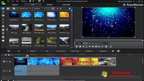 Screenshot CyberLink PowerDirector Windows 10