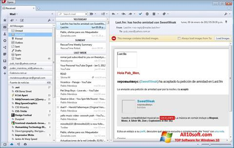 Screenshot Opera Mail Windows 10