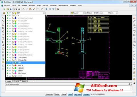 Screenshot DraftSight Windows 10