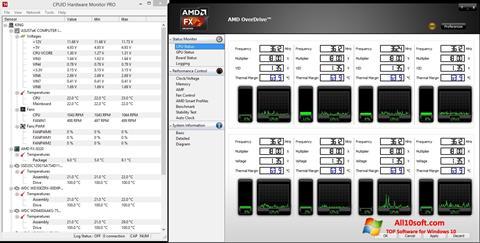 Screenshot AMD Overdrive Windows 10