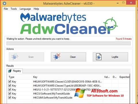 Screenshot AdwCleaner Windows 10