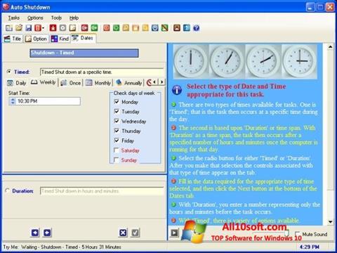 Screenshot Auto ShutDown Windows 10