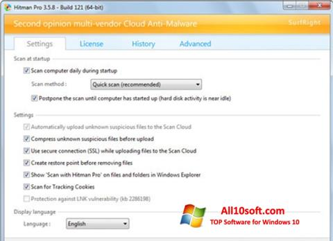 Screenshot HitmanPro Windows 10