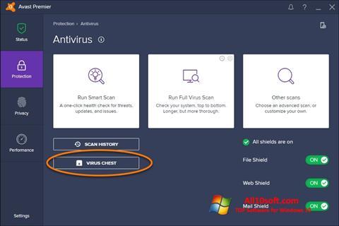 Screenshot Avast Windows 10