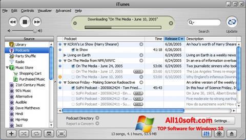 Screenshot iTunes Windows 10