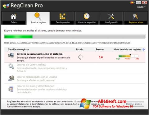 Screenshot RegClean Pro Windows 10