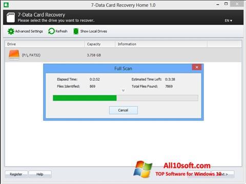 Screenshot CardRecovery Windows 10