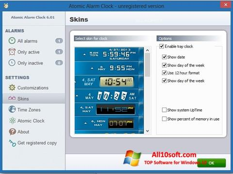 Screenshot Atomic Alarm Clock Windows 10