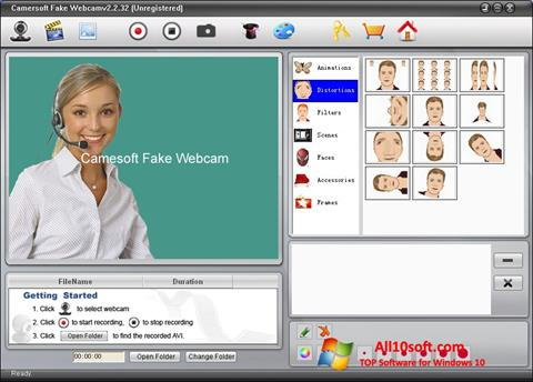 Screenshot Fake Webcam Windows 10