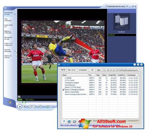 Screenshot SopCast Windows 10