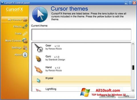 Screenshot CursorFX Windows 10