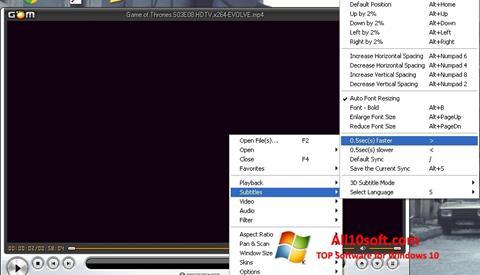 Screenshot GOM Player Windows 10