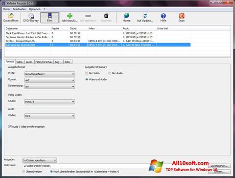 Screenshot XMedia Recode Windows 10