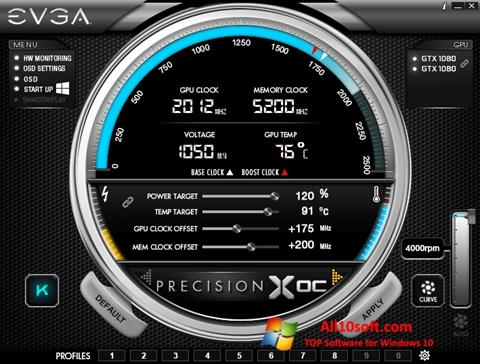 Screenshot EVGA Precision Windows 10