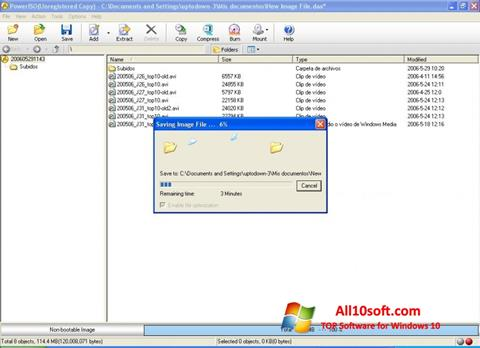 Screenshot PowerISO Windows 10