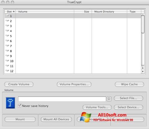 Screenshot TrueCrypt Windows 10