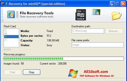 Screenshot F-Recovery SD Windows 10