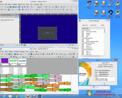 Screenshot OptiTex Windows 10