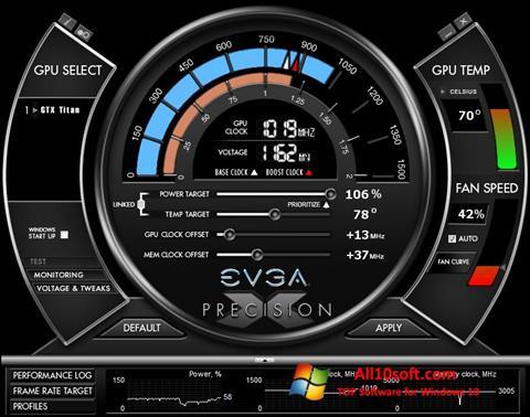 Screenshot EVGA Precision X Windows 10