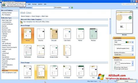 Screenshot Microsoft Publisher Windows 10