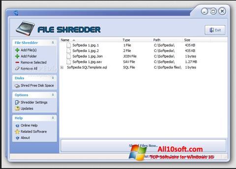 Screenshot File Shredder Windows 10