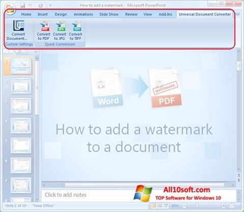 Screenshot Microsoft PowerPoint Windows 10