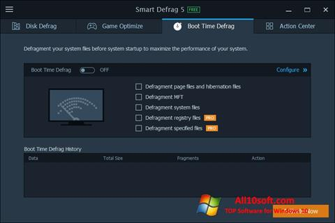 Screenshot Smart Defrag Windows 10
