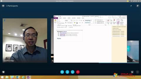 Screenshot Skype for Business Windows 10