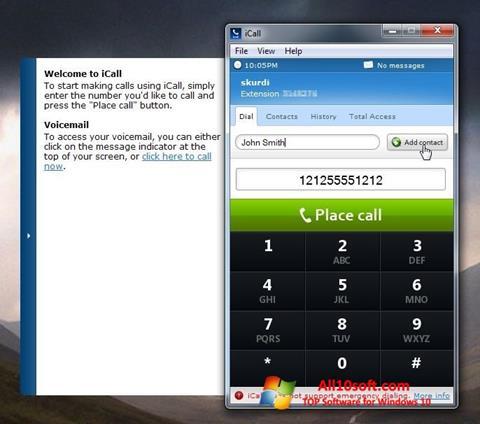 Screenshot iCall Windows 10