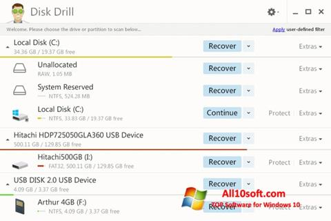 Screenshot Disk Drill Windows 10
