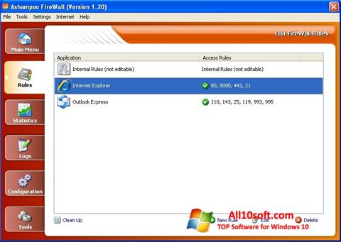 Screenshot Ashampoo Firewall Windows 10