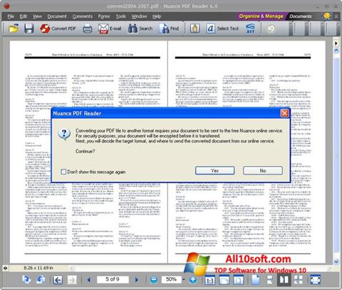 Screenshot Nuance PDF Reader Windows 10