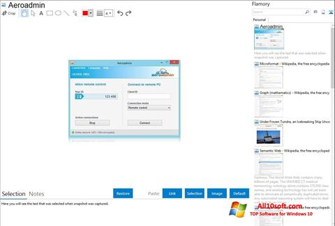 Screenshot AeroAdmin Windows 10