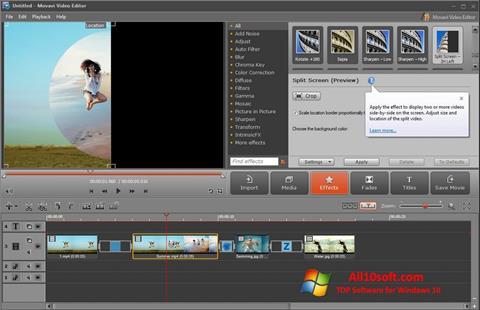 Screenshot Movavi Video Editor Windows 10