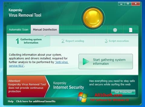 Screenshot Kaspersky Virus Removal Tool Windows 10