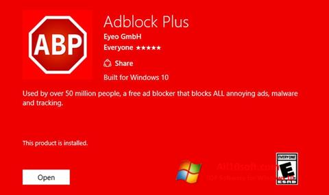 Screenshot Adblock Plus Windows 10