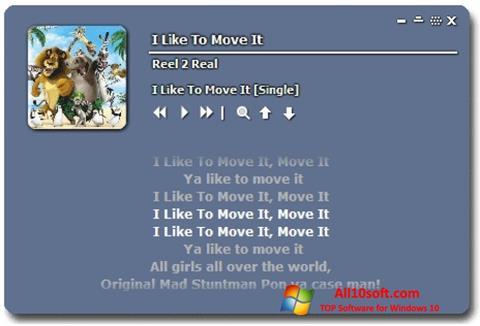 Screenshot Minilyrics Windows 10
