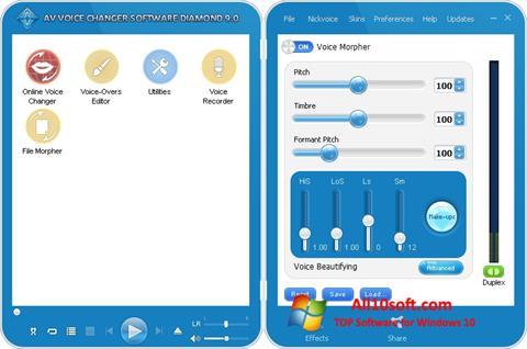 Screenshot AV Voice Changer Diamond Windows 10